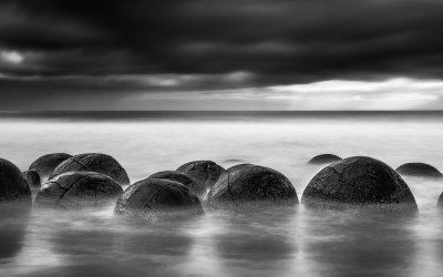 Moeraki Boulders. Nueva Zelanda.