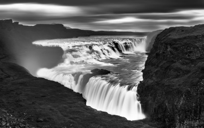 Gullfoss. Islandia. Mención de honor en el concurso Monochrome Awards  Black & White Photograpy Contest 2017