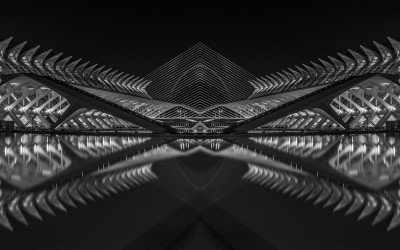 Ciudad de las Artes y las Ciencias. Mención de honor en el concurso Monochrome Awards International Black & White Photograpy Contest